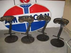 image detail for vintage maine farm tractor seat metal bar stools used new for sale. Black Bedroom Furniture Sets. Home Design Ideas