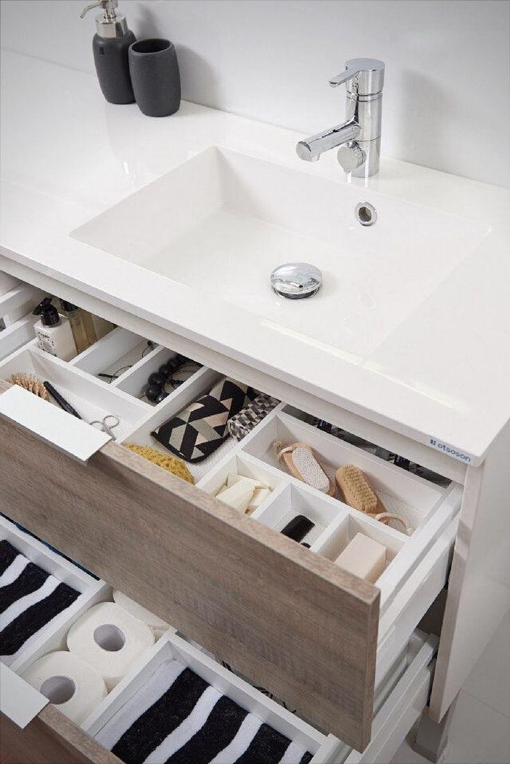 Vallitseeko sinun kylppärisi vetolaatikoissa seesteinen järjestys vai hallittu kaaos? Kylpyhuoneen pikkutavarat on mahdollista saada pysymään nätisti järjestyksessä Otsosonin lokerikoilla. Lokerikot on räätälöity juuri sopivan kokoisiksi Otsosonin kalusteiden vetolaatikoihin.