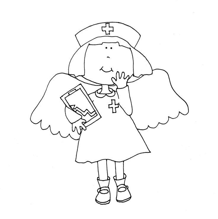 27 best nurse images on Pinterest Nurses, Being a nurse and Digi - fresh coloring pages about nurses