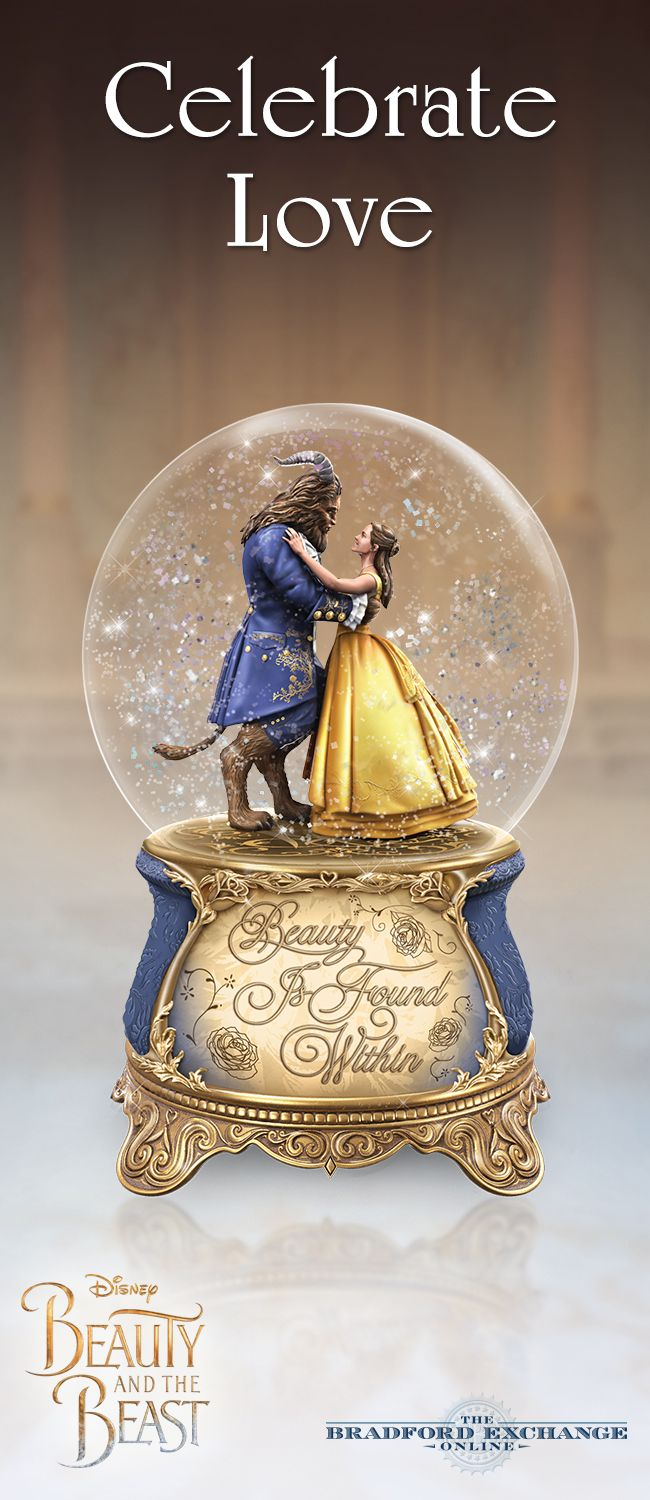 Experience the transformative power of love with the Disney Beauty and the Beast Glitter Globe. With the turn of a key and a gentle shake, Belle and the Beast spin in a magical dance amidst swirling snow.