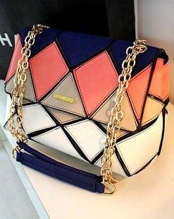 Unique Geometry Colorful Shoulder Bag