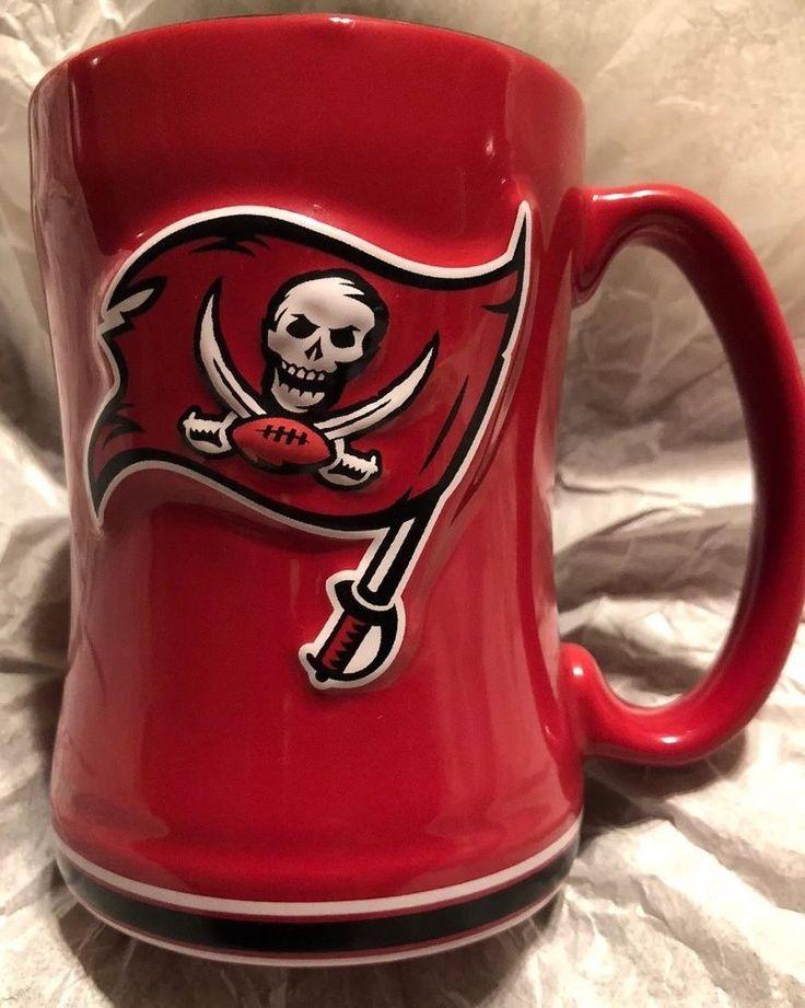 Nfl Tampa Bay Buccaneers Coffee Mug Ceramic Espresso Red Flag Skull Boelter Ebay Mugs