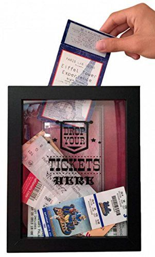 #homefurniture * Create a display of #ticket stubs from movies, concerts, plays, sporting events and more using this Ticket #Shadow Box. It's a decorative way for...