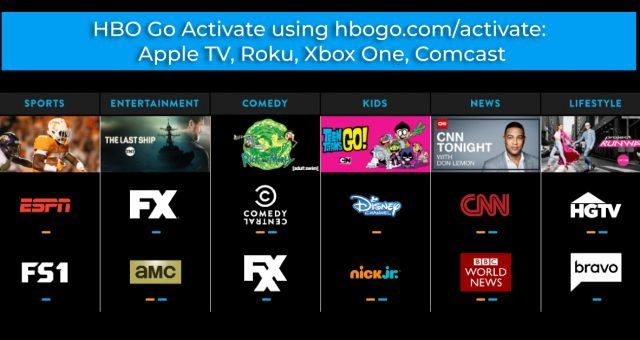 HBO Go Activate using hbogo com/activate: Apple TV, Roku