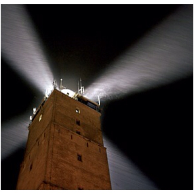 "Brandaris Terschelling ""the only lighttower with 4 beams in the world"" !!!"