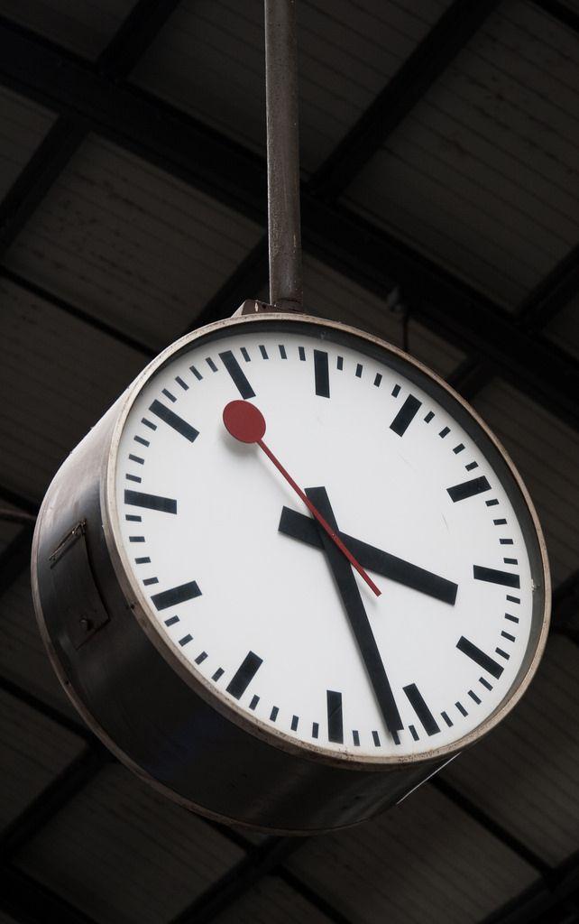 Mondaine Clock Zurich Train Station Switzerland