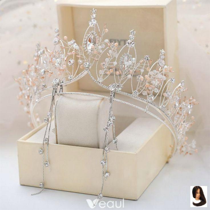 Chique / linda brincos de tiara de prata jóias de noiva 2019 strass cristal  de metal ... - Nail Effect - Nail Effect | Rhinestone bridal, Women's  jewelry and accessories, Wedding accessories jewelry