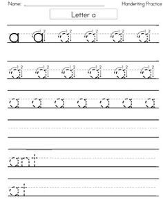 hand writing worksheets – streamclean.info