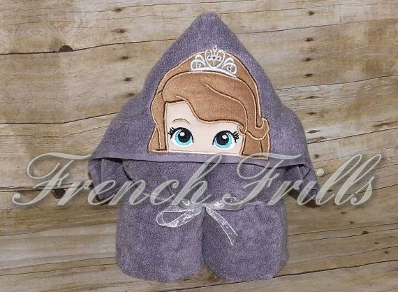 Hooded Bath Towel Embroidery Designs