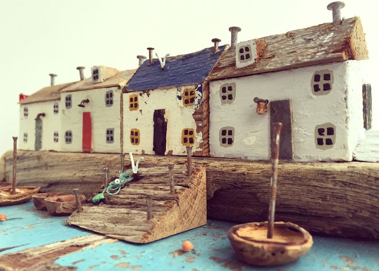 Driftwood House Sculptures by Kirsty Elson