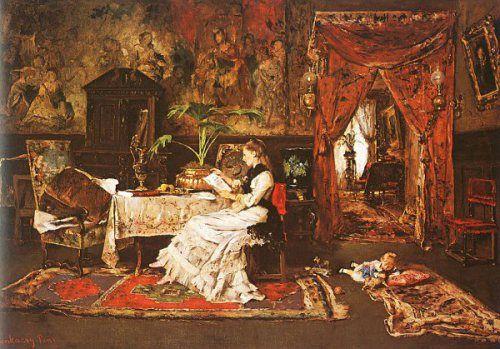 Mihaly Munkacsy (1844 – 1900, Hungarian) Interior - Paris Interior