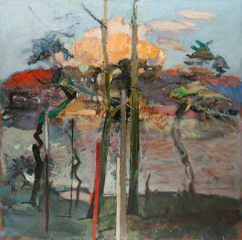 Duncan Shanks. pink Cloud, Red Pole