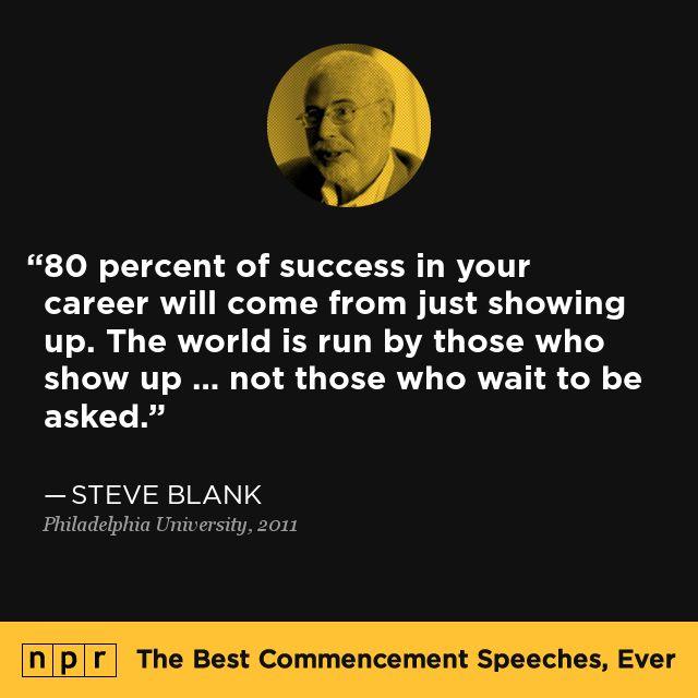 Steve Blank, 2011. From NPR's The Best Commencement Speeches, Ever.
