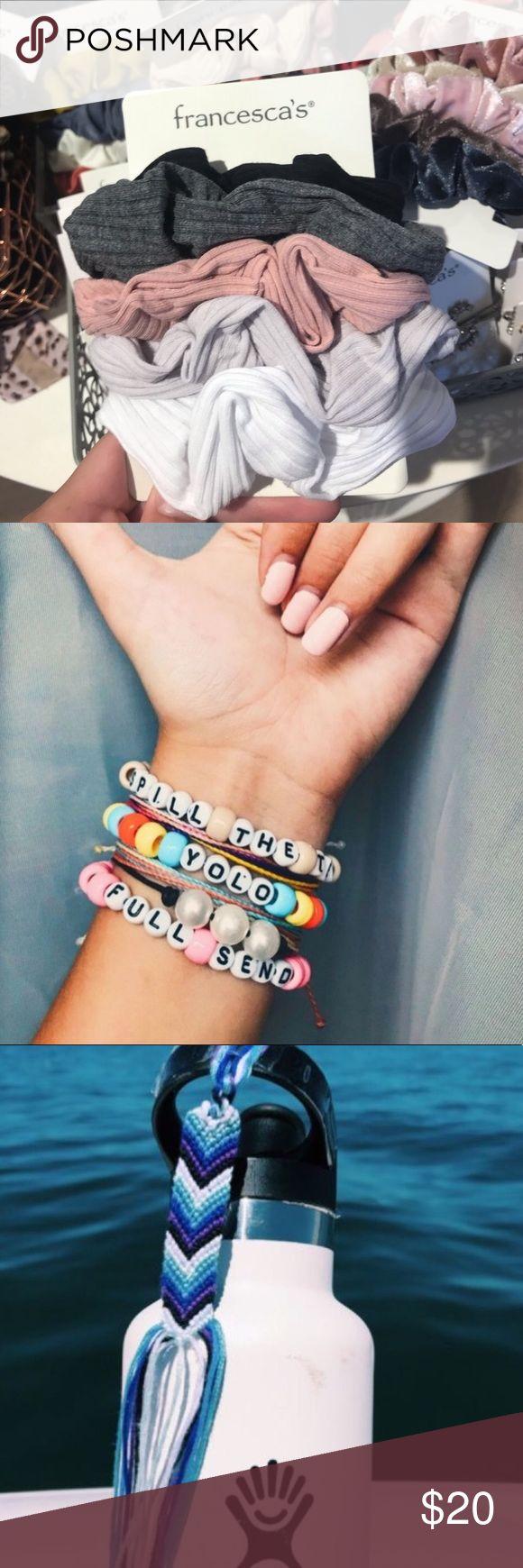 Regular VSCO girl starter pack! Includes -1 pony bead bracelet -1 scrunchie -1 c…