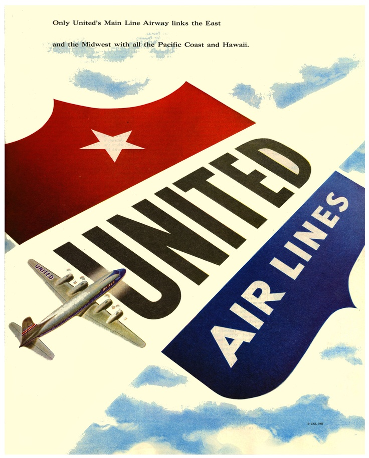 Great vintage United Airlines ad.