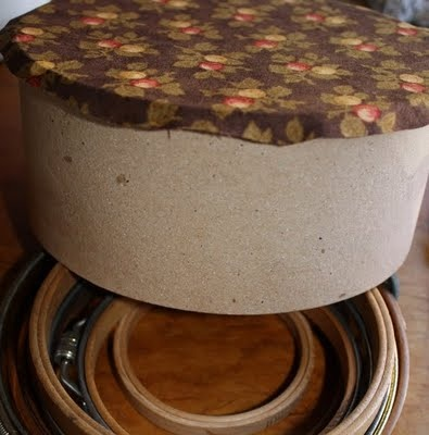 How to Cover a Hat Box in Fabric