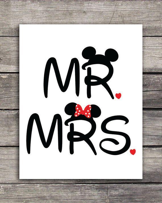 Mr. und Mrs. Mickey und Minnie Hochzeit Graphics-Einsatz auf t-Shirts, Tassen oder ein Produkt Ihrer Wahl drucken. Ideal für Ihre Disneymoon!