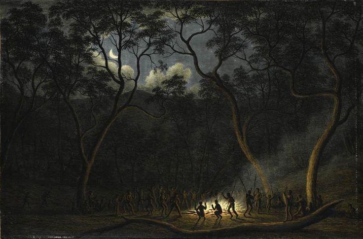 """""""Aboriginal Coroboree in Van Diemen's Land"""" by Australian painter John Glover (1767-1849) #InternationalDanceDay"""