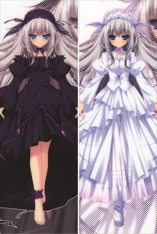 Dakimakura Hugging Body Pillow Case  Dimension:  50cm x 150cm  Color:  See Picture  Packaging: Transparent Plastic Bag  Note: Pillow Cover only - Please see Inner Pillow Sold Separately  http://www.animedakimakurapillow.com/collections/11-eyes
