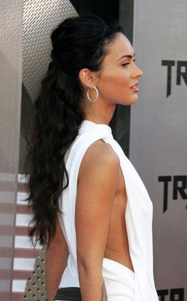 Megan Fox half updo; I like this!