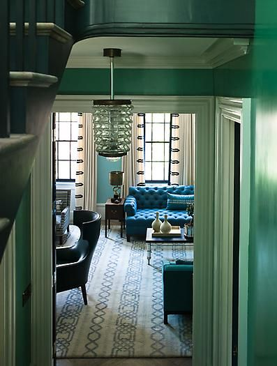 Blue and green deco glam