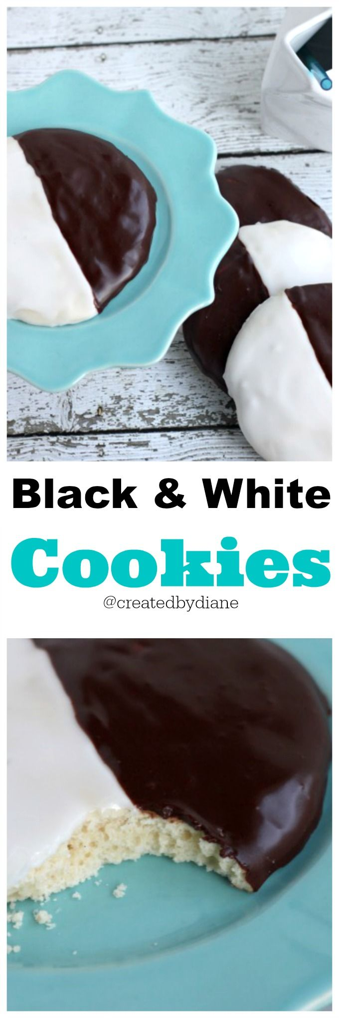 Black and White Cookies @createdbydiane
