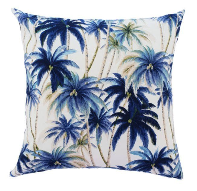 Tropical Outdoor Cushions Outdoor Pillows Blue Hamptons Style