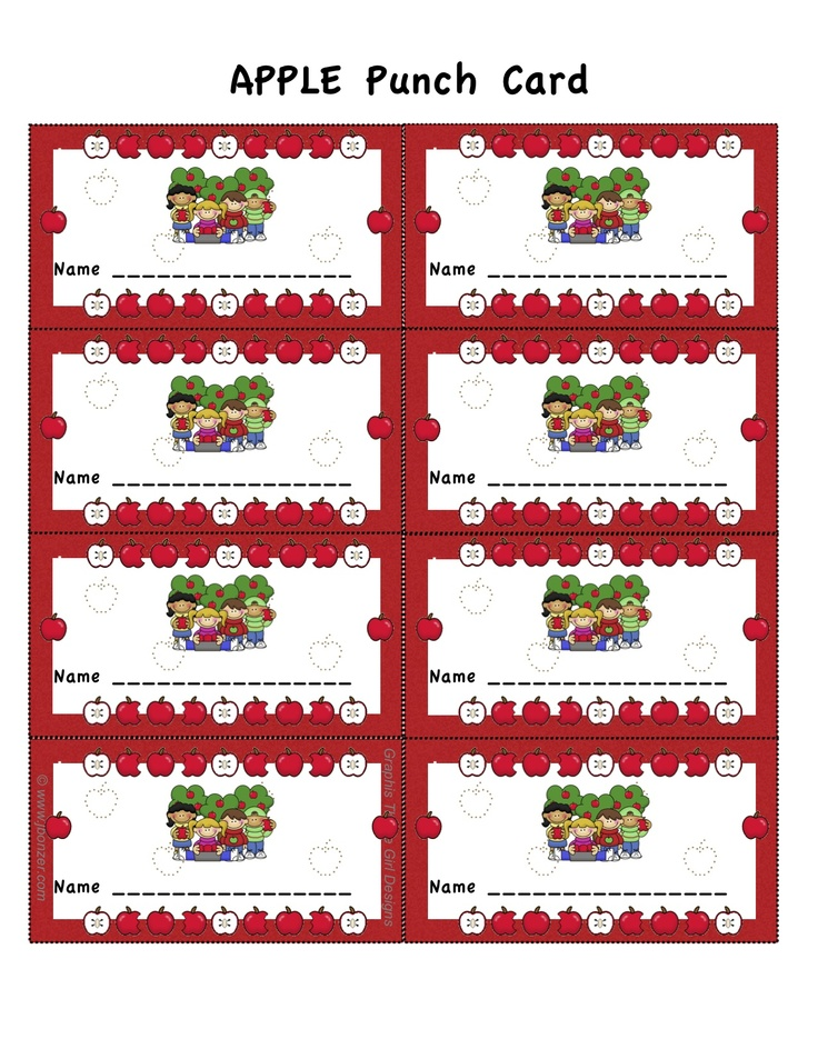 7 best Punch Cards images on Pinterest Fine motor, Fine motor - copy zumba punch card template free