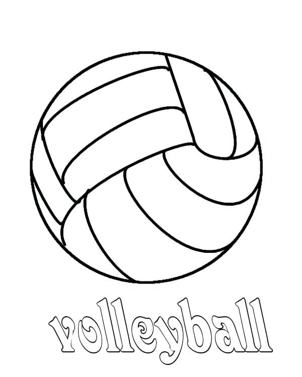 Volleyball Pictures To Color J9168 Volleyball Coloring Page