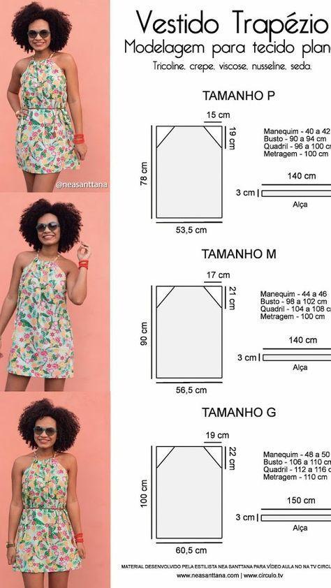 vestido de confección sencilla | ropa | Dress patterns, Sewing y ...