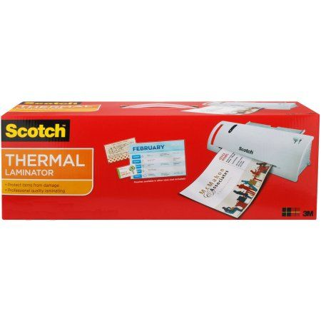 Scotch Thermal Laminator, 1 laminator and 5 starter pouches - Walmart.com