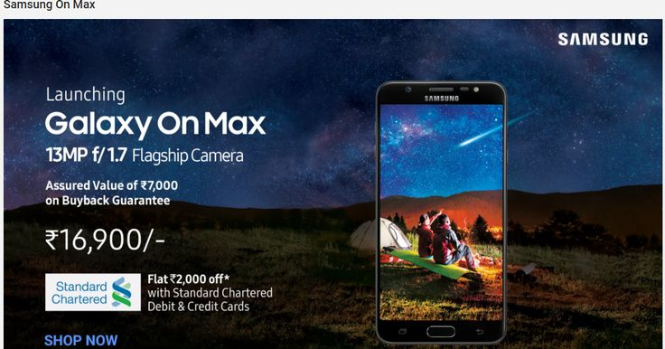 """Samsung On Max - Now you can Shop """"Newly Lunched Samsung Galaxy On Max""""  Samsung On Max - Now you can Shop """"Newly Lunched Samsung Galaxy On Max""""    In my earlier post """"Samsung Galaxy On Max a latest Smartphone by Samsung -Know its Complete Features"""" I have mentioned almost everything about all the features ofNewly Lunched Samsung Galaxy On Max. In this post I have given infographic view ofNewly Lunched Samsung Galaxy On Max which will definitely help you to decide to shop this smartphone…"""
