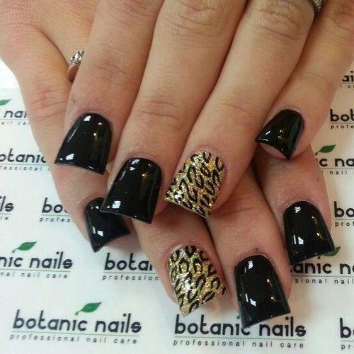 Black and cheetah nails - 25+ Unique Cheetah Nails Ideas On Pinterest Leopard Nails, Gold