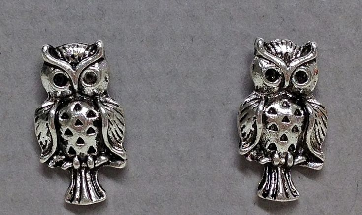 Antique Silver Plated Owl Earrings for £6.68 #onselz (Now Reduced to £4.49)