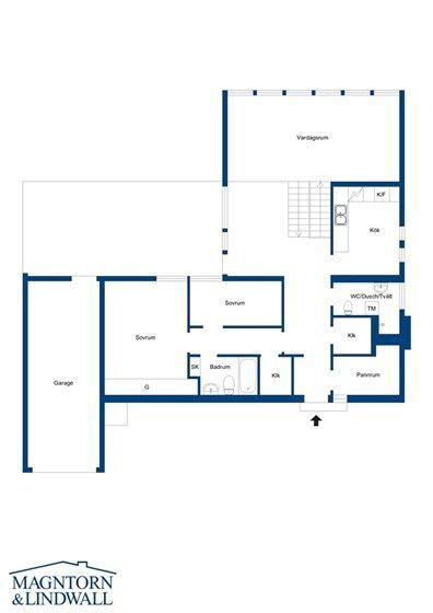 Entréplan och andra etage