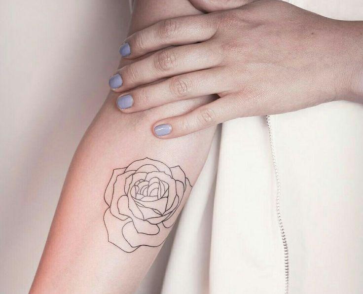 tatuagem contorno de uma rosa