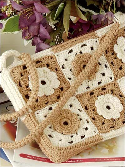 Crochet Sophisticated Granny Handbag free pattern.