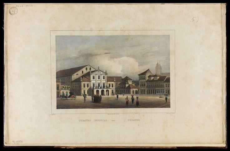 """""""Theatro Imperial"""" em gravura de W. Loeillot de 1835."""