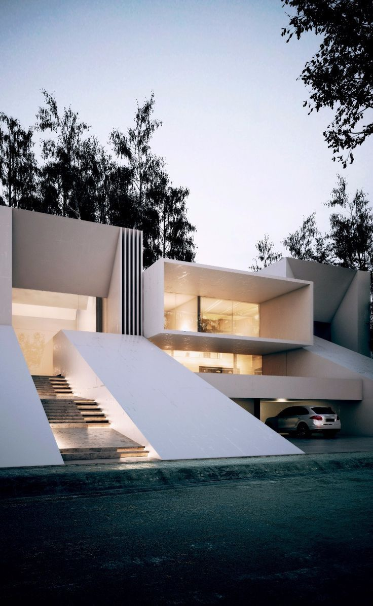 317 best images about fachadas y exteriores on pinterest for Beautiful modern buildings