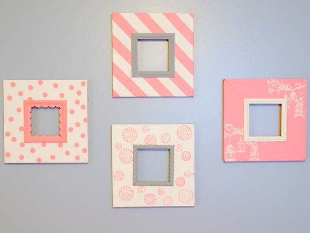 love these frames with the cute patterns
