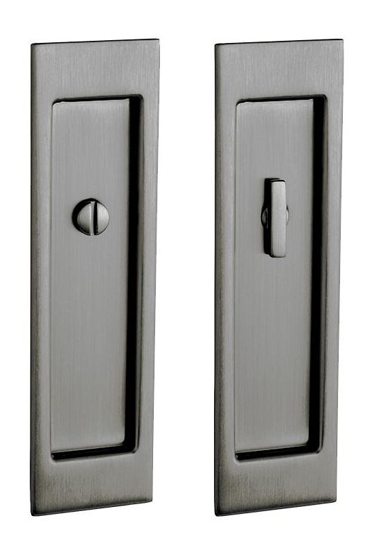 priv santa monica privacy pocket door set with door pull from the lifetime