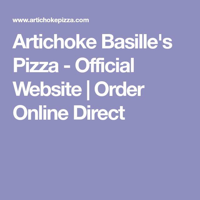 Artichoke Basille's Pizza - Official Website | Order Online Direct