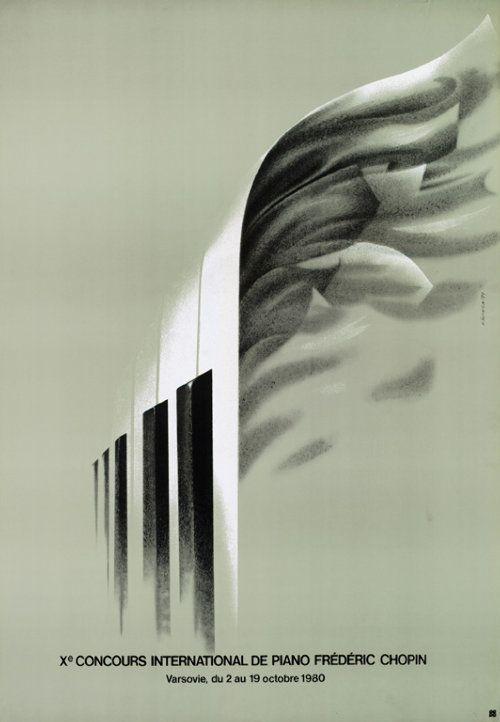 Xth International Piano Competition of Frederic Chopin    Polish Poster, designer: K. Śliwka, 1979