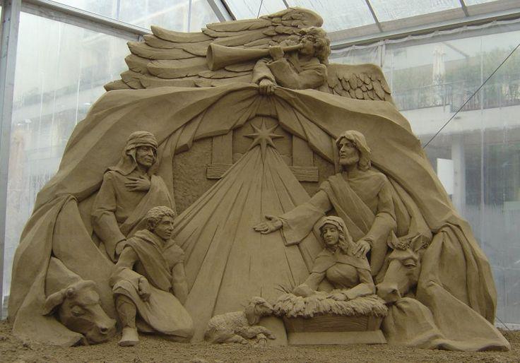 sand scupltures   ... Image 06 of sand sculpture for 2008 Nativity sand sculpture -Jesolo