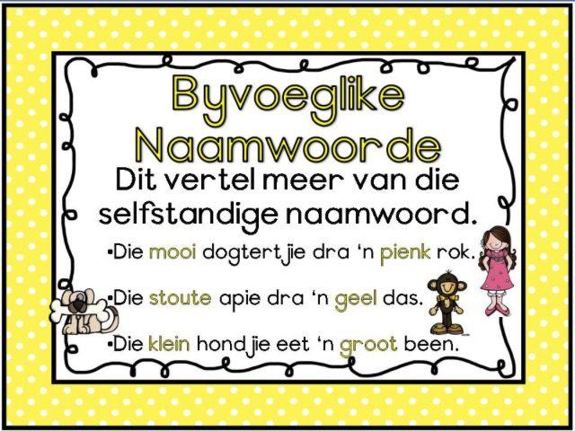 Byvoeglike Naamwoorde