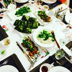 Now try this Vietnamese Recipe – steamed fish in banana leaf – which was a huge hit at the same dinner
