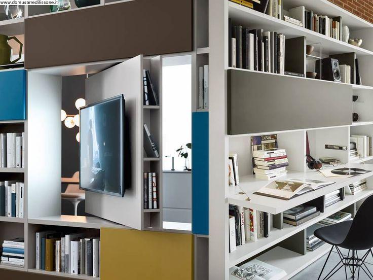Porta Tv girevole e scrivania ribaltabile