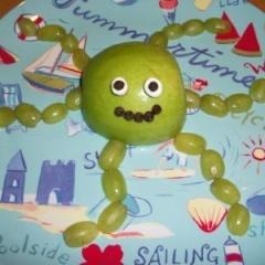 octopus fruit snack