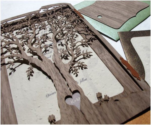 Clever 'Love Tree' #Wedding #Invitation by Laser Creative! To see more: www.modwedding.com
