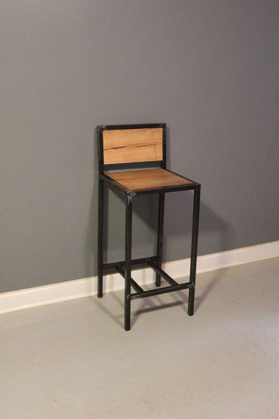 barstool industrial stool bar stool shop stool metal stool reclaimed wood